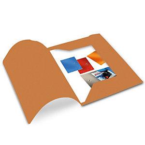 Cartellina a 3 lembi, 25,4 x 33,4 cm, Senza stampa, Cartoncino manilla riciclato al 100%, Arancio (confezione 50 pezzi)