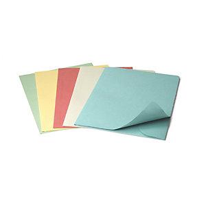 Cartellina a 3 lembi, 25,4 x 33,4 cm, Senza stampa, Cartoncino manilla riciclato al 100%, Colori assortiti (confezione 50 pezzi)