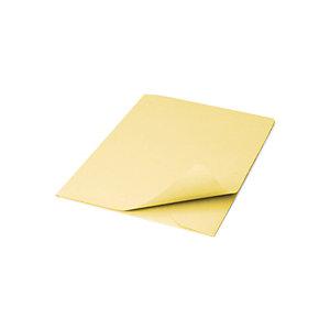 Cartellina a 3 lembi, 25,4 x 33,4 cm, Senza stampa, Cartoncino manilla riciclato al 100%, Giallo (confezione 50 pezzi)