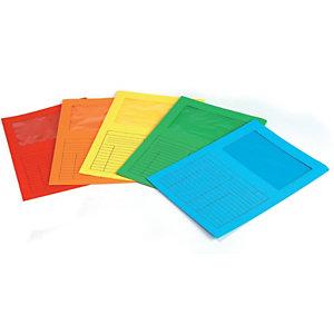 Cartellina a L con finestra, 22 x 31 cm, Cartoncino 200 g/m², Azzurro (confezione 20 pezzi)