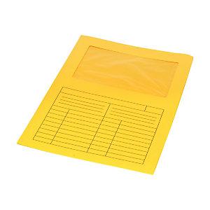 Cartellina a L con finestra, 22 x 31 cm, Cartoncino 200 g/m², Giallo (confezione 20 pezzi)