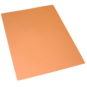 Cartellina semplice, Senza stampa, 24,4 x 34 cm, Cartoncino manilla riciclato al 100%, Arancio (confezione 100 pezzi)