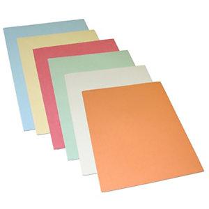 Cartellina semplice, Senza stampa, 24,4 x 34 cm, Cartoncino manilla riciclato al 100%, Colori assortiti (confezione 100 pezzi)
