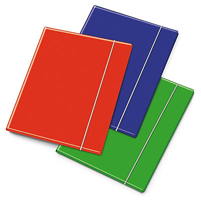 Cartellina a tre lembi con elastico