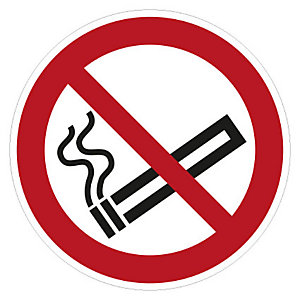 Cartello adesivo Vietato fumare, ø 10 cm