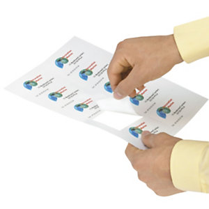 Cartes De Visite Adhesives A Bords Lisses