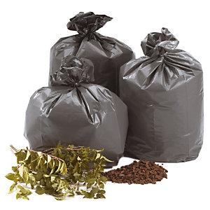Carton de 100 sacs poubelle plastique 130 L Gris (Carton de 100 sacs)