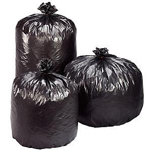 Carton de 100 sacs poubelle plastique Economique 130 L Gris (Carton de 100 sacs)