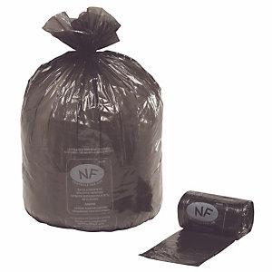 Carton de 250 sacs poubelle  NF 100 L Noir (Carton de 250 sacs)