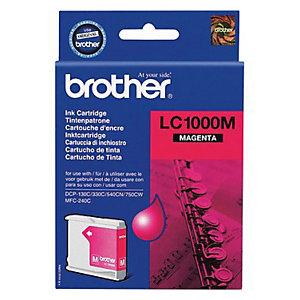 Cartouche Brother LC1000M magenta pour imprimantes jet d'encre