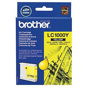 Cartouche Brother LC1000Y jaune pour imprimantes jet d'encre