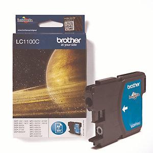 Cartouche Brother LC1100C cyan pour imprimantes jet d'encre