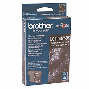 Cartouche Brother LC1100HYBK noir pour imprimantes jet d'encre