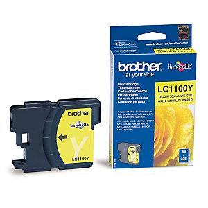 Cartouche Brother LC1100Y jaune pour imprimantes jet d'encre