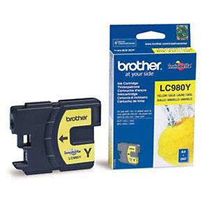 Cartouche Brother LC980Y jaune pour imprimantes jet d'encre