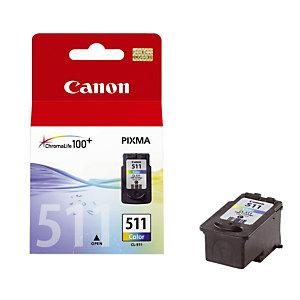 Cartouche Canon CL 511 couleurs (cyan + magenta + jaune) pour imprimantes jet d'encre