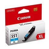 Cartouche Canon CLI-551C XL cyan pour imprimantes jet d'encre