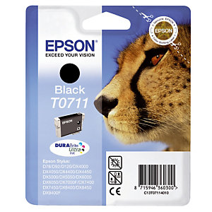 Cartouche Epson T0711 noir pour imprimantes jet d'encre