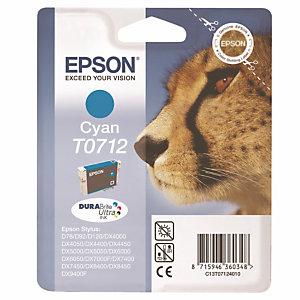 Cartouche Epson T0712 cyan pour imprimantes jet d'encre