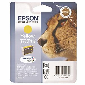 Cartouche Epson T0714 jaune pour imprimantes jet d'encre