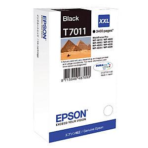 Cartouche Epson T7011 noir pour imprimantes jet d'encre