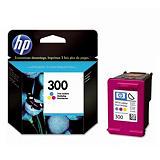 Cartouche HP 300 couleurs (cyan+magenta+jaune) pour imprimantes jet d'encre
