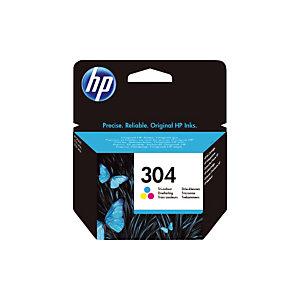 Cartouche HP 304 couleurs (cyan+magenta+jaune) pour imprimantes jet d'encre
