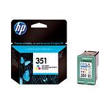 Cartouche HP 351 couleurs (cyan, magenta, jaune) pour imprimantes jet d'encre