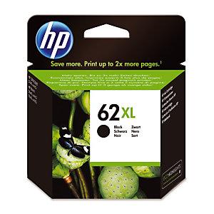 Cartouche HP 62 XL noire pour imprimantes jet d'encre