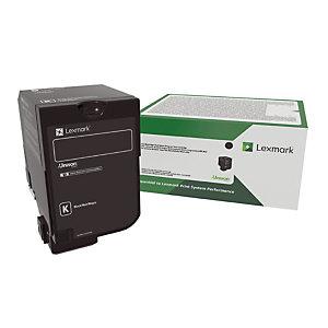 Cartouche toner Lexmark 75B20K0 coloris noir.