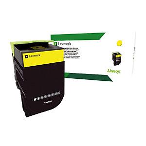 Cartouche toner Lexmark C232HY0 coloris jaune.