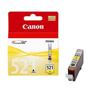 Cartridge Canon CLI 521Y geel voor inkjet printers