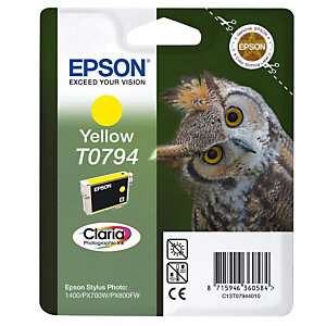 Cartridge Epson T0794 geel voor inkjet printers