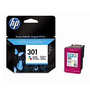 Cartridge HP 301 kleuren (cyaan + magenta + geel)  voor inkjetprinters