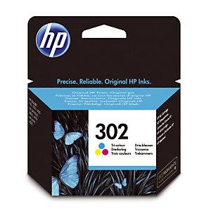 Cartridge HP 302 kleuren (cyaan+magenta+geel) voor inkjetprinters