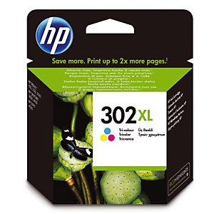 Cartridge HP 302 XL kleuren (cyaan+magenta+geel) voor inkjetprinters