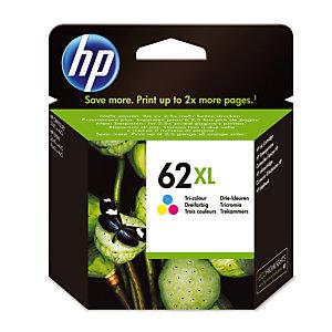 Cartridge HP 62 XL kleuren (cyaan + magenta + geel) voor inkjet printers