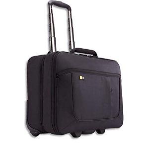 CASE LOGIC Trolley Noir en nylon pour PC 13'' à 17,3'' + compartiment vêtements L46 x H40,4 x P23,6 cm