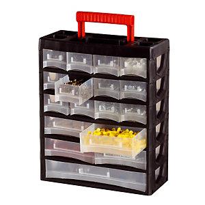 Casier de rangement mobile 17 tiroirs
