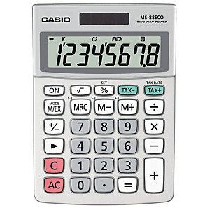 CASIO Bureau calculator MS-88ECO 8-cijferig, grijs