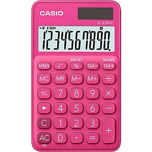 Casio Calculatrice de bureau SL-310UC, 10 chiffres - Rouge