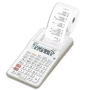CASIO Calculatrice imprimante portable 12 chiffres HR-8 RCE Blanche