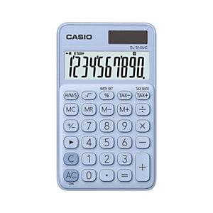 Casio Calculatrice de poche SL-310UC - 10 chiffres - Bleu clair