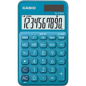Casio calculatrice de poche SL-310UC, 10 chiffres - Bleue