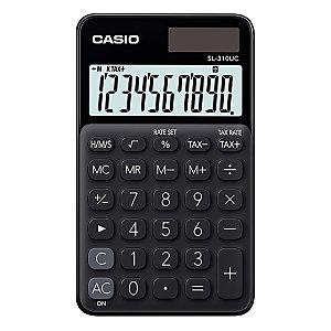 Casio Calculatrice de poche SL-310UC - 10 chiffres - Noire