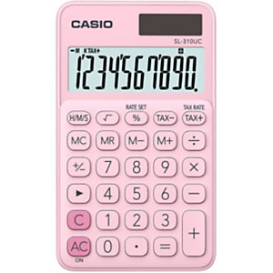 Casio Calculatrice de poche SL-310UC - 10 chiffres - Rose clair