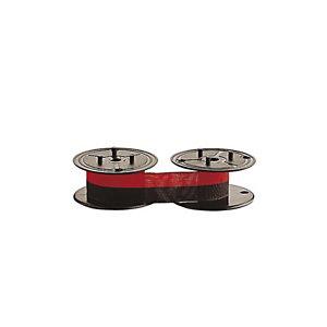 Casio RB-02, Cinta textil compatible con Gr 51 S+U, negro y rojo, 13 mm x 6 m