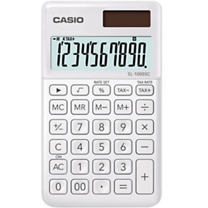 Casio SL-1000SC, Calculadora de bolsillo, blanco