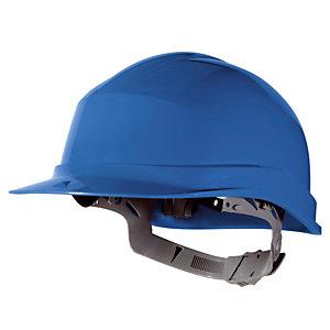 Casque de chantier avec serrage à glissière Delta Plus, bleu