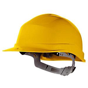 Casque de chantier avec serrage à glissière Delta Plus, jaune